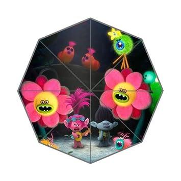 novemberrain trols Cartoon personalizado paraguas plegable paraguas diseño de moda para todo tipo de clima