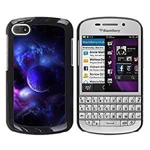 Design for Girls Plastic Cover Case FOR BlackBerry Q10 Purple Planet Universe Moon Galaxy Star Cloud OBBA