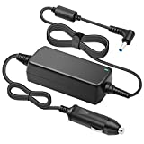 Powseed DC 12V/24V Car Charger Adapter 65w 19.5V 3.33a for HP 719309-001, 741727-001, 740015-001, 721092-001, 719309-003, ADP-45WD, TPN-LA03, Stream 11 13 14, Envy Spectre x360 x2, Split X2 Chromebook