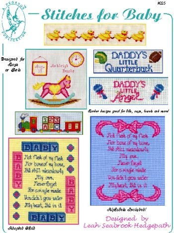 Pegasus Originals Stitches for Baby Counted Cross Stitch (Leaflet Alphabet Sampler)