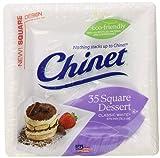 Chinet Classic Dessert Plate, White, Square, 6-3/8 Inch, 35 Count
