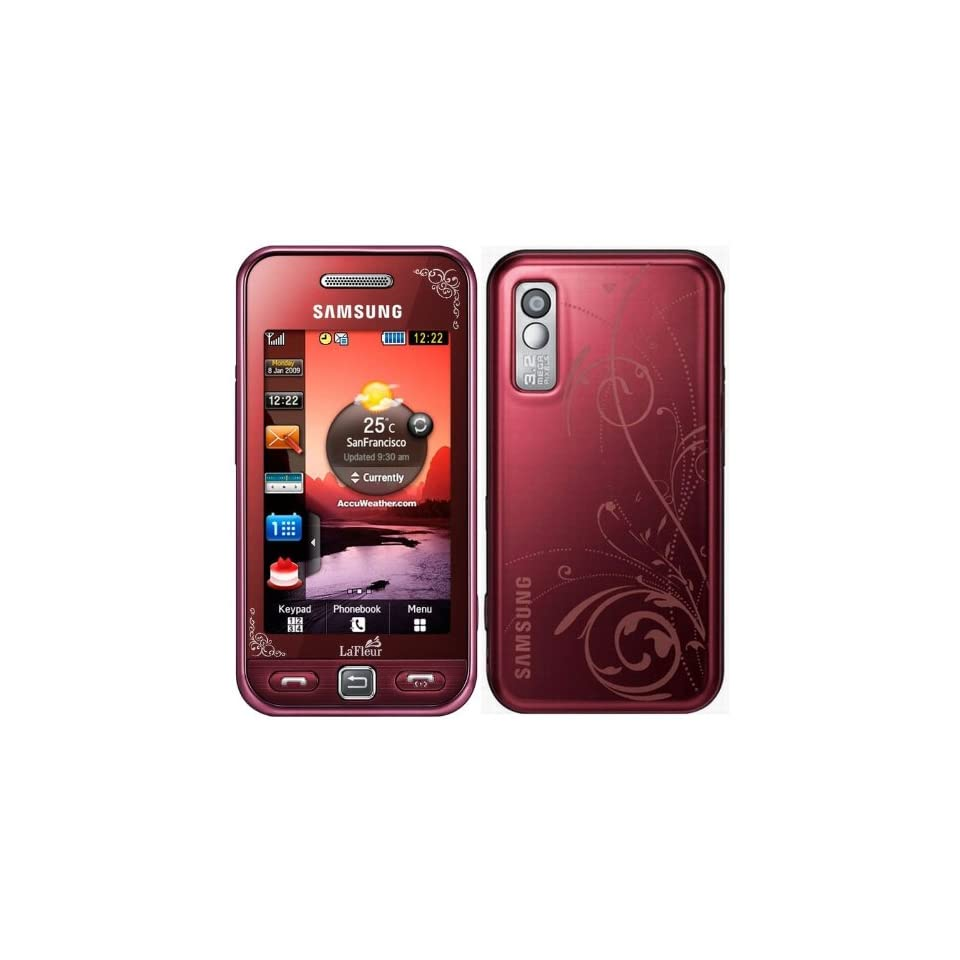 Samsung S5230 Unlocked GSM Phone with 3 MP Camera,  player, Touch Screen and MicroSD Slot  International Version with No U.S. Warranty (Red)