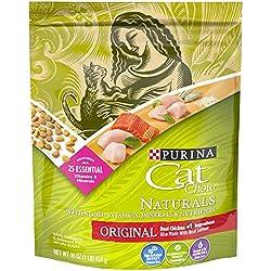Purina Cat Chow Natural Dry Cat Food, Naturals Original - (6) 16 oz. Pouches