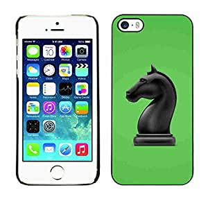 Shell-Star ( The Horse Chess Figure ) Fundas Cover Cubre Hard Case Cover para Apple iPhone 5 / 5S