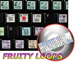 """The Fruity Loops stickers can easily transform your standard keyboard into a customized one within minutes, depending on your specific need and preferences.Unsurpassed quality.  The Galaxy series presents 12x12 mm (15/32""""x15/32"""") reverse prin..."""
