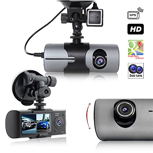 Indigi New Car DVR Dual Camera Lens