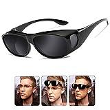 Wear Over sunglasses for men women Polarized lens, Sunglasse fit over Prescription Glasses