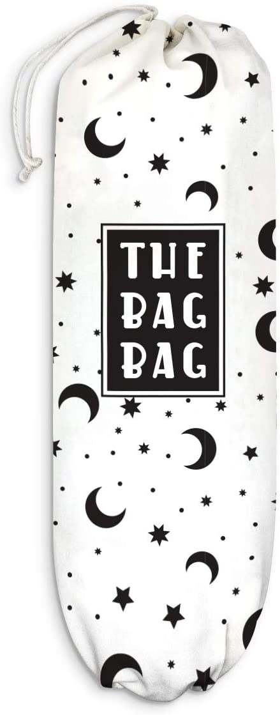 Stars Moon Plastic Bag Holder Grocery Shopping Bags Carrier Storage Organizer Dispenser, Home Kitchen Bathroom Farmhouse Decor, Gift for Hostess, Mother, Housewarming, Thanksgiving, Christmas