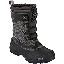 The North Face Boys' Alpenglow IV Boots (Youth Sizes 13 - 7) - black, 6 youth