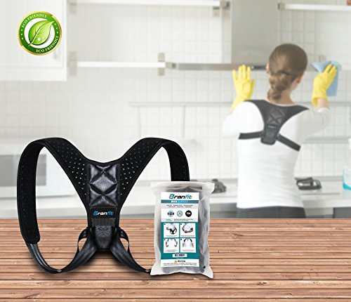 Best Posture Corrector & Back Support Brace for Women and Men by BRANFIT, Figure 8 Clavicle Support Brace is Ideal for Shoulder Support, Upper Back & Neck Pain Relief by Branfit (Image #1)