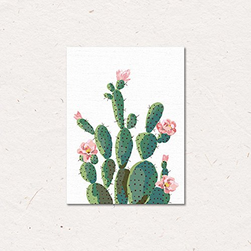 ChezMax Wall Art on Canvas Print Artwork Pictures for Home Decor Green Tropical Plants Cactus 11.8 X 15.7