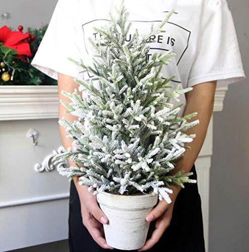 ZXQY Navidad Spray de Nieve de Mini decoracion del arbol de la Ventana del Escritorio Frente a la luz del Escritorio de Navidad pequenas Decoraciones para arboles de Navidad,50CM