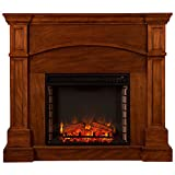 Southern Enterprises Lantana Convertible Electric Fireplace in Oak