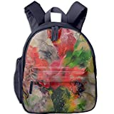 Abstract Floral Small Painting Printed Customized Casual Book Bag Middle School Backpacks for Boys