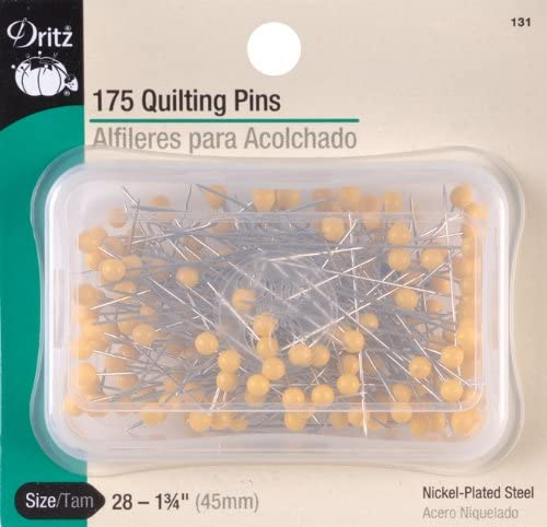 Dritz Quilting Quilter/'s Pins 1-3//4 Inch 175 Count