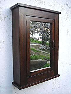 Primitive Mission Medicine Cabinet / Dark Walnut / Solid Wood u0026 handmade / Surface mount & Amazon.com: Madrid Medicine Cabinet / WHITE finish / Handmade ...