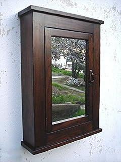 Du0026E Wood Craft Cabinets Primitive Mission Medicine Cabinet/Dark Walnut/Solid Wood u0026 handmade & Amazon.com: Du0026E Wood Craft Cabinets Distressed Mission Medicine ...