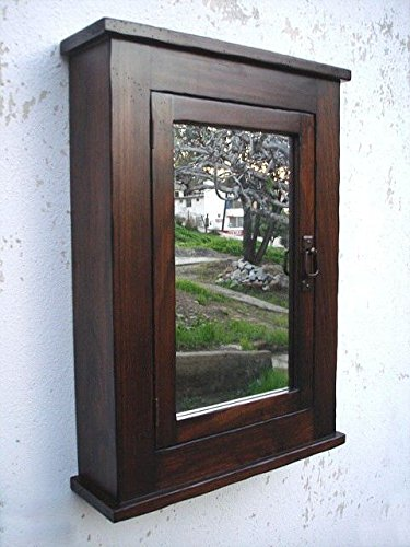 Du0026E Wood Craft Cabinets Primitive Mission Medicine Cabinet/Dark  Walnut/Solid Wood U0026 Handmade