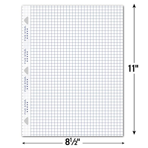 five star loose leaf paper  3 hole punched  reinforced