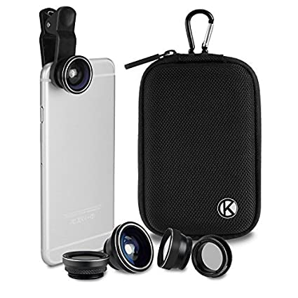 CamKix Deluxe Universal 5in1 Camera Lens Kit for Smartphone, Tablet and  Laptop - Fish Eye, 2in1 Macro and Wide Angle, CPL and 2X Tele Lens,  Universal