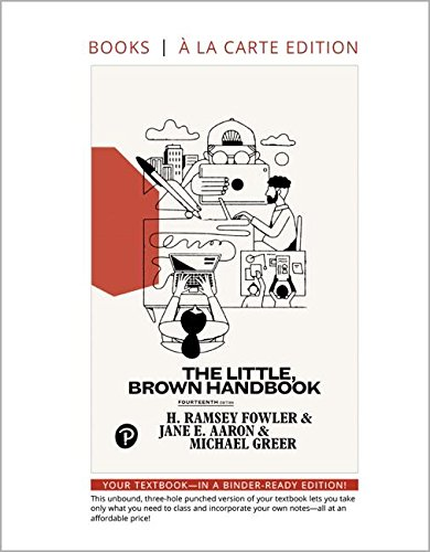 Little, Brown Handbook, The, Loose-Leaf Edition (14th Edition)