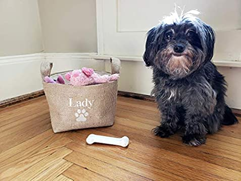 b3fe8302ca8c Amazon.com: Personalized Dog Toy Basket: Handmade