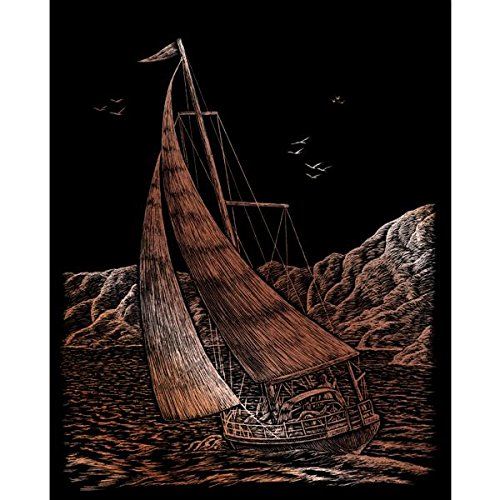 ROYAL BRUSH Copper Foil Engraving Art Kit, 8 by 10-Inch, Sailing COPRFL-30