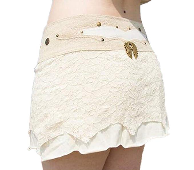 Domorebest Mini Falda, para Mujer con Falda Redonda de Hippie con ...
