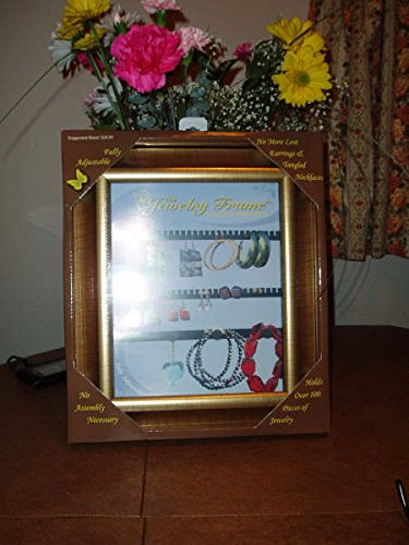 Decorative Jewelry Organizer Picture Frame! Artfully Display Earrings Bracelets & Necklaces on Your Wall