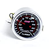"Universal Car 2""/52mm Turbo Boost Gauge LED Motor Gauge -30 to 30 psi"