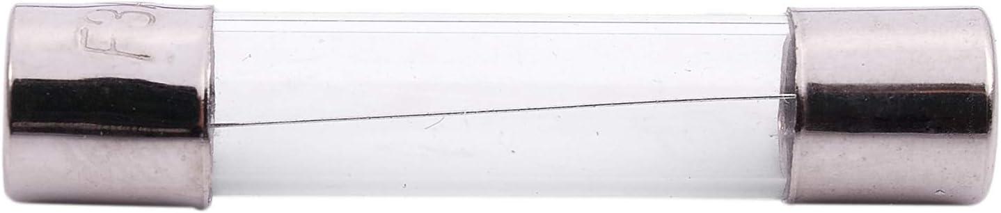 Moligh doll 10 pcs Fusibles en tube de verre a soufflage rapide 6x30mm 250V 3A