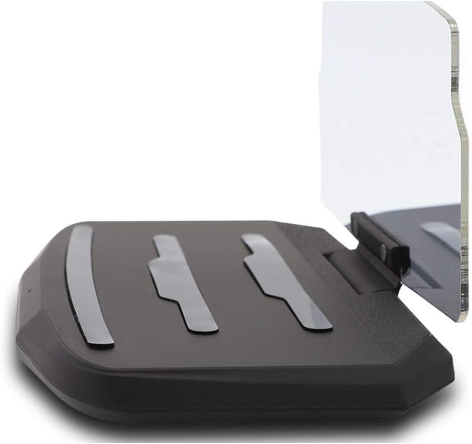 KERVINJESSIE HUD Car Wireless Charging Stand Car Projection Wireless Charging Mobile Navigation Bracket Standard Fast Charging Color : Black