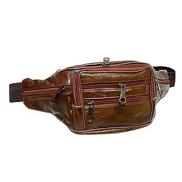 061efbd825 Amazon.com : ❤ Sunbona Clearance Waist Packs for Travel Nile Men Fashion Bag  Pure Color Leather Shoulder Waterproof Crossbody Bag Chest Bag : Beauty