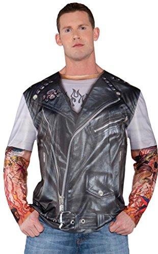 [Underwraps Men's Biker Shirt] (Biker Halloween Costumes For Adults)