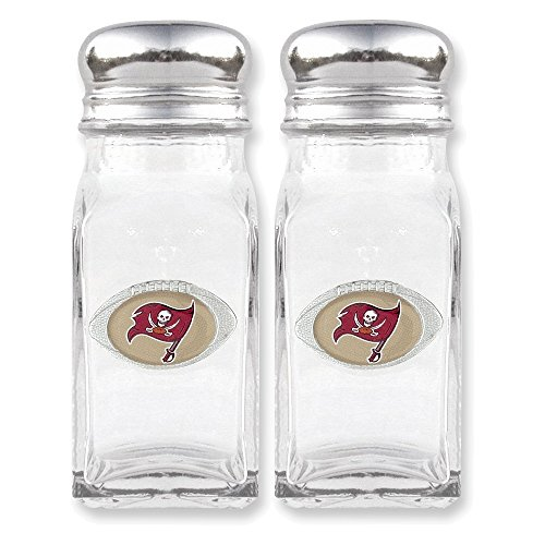 Jewelry Adviser Nfl Gifts NFL Buccaneers Glass Salt and Pepper Shakers