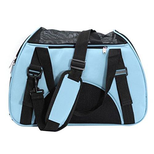 Sac de transport - SODIAL(R)Sac de transport de voyage pour chien chat Sac d'animal de compagnie en tissu bleu 060902A3