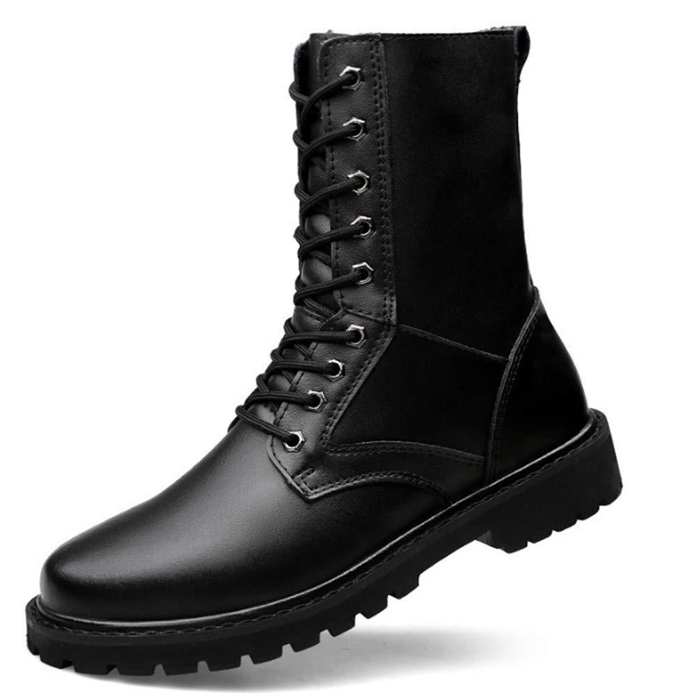 FMWLST Stiefel Pu-Militär Winterstiefel Der Motorradstiefel-Männer Beiläufige Gehende Schuhe