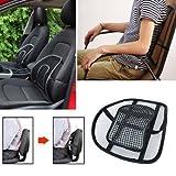 JannatUniversal Black Back Lumbar Support Chair Set of 2