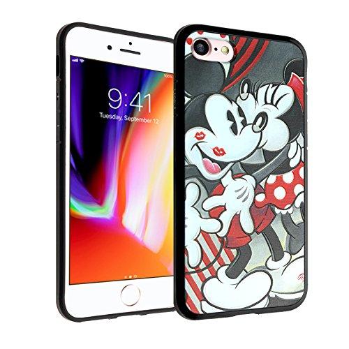 Mickey & Minnie iPhone 8 Case, iPhone 7 Case, IMAGITOUCH Anti-Scratch Shock Proof Slim Fit Flexible TPU Case Bumper Cover for iphone 8/7 Mickey & Minnie Mouse Bumper