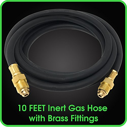 Hose 10 Feet Inert Double Brass Gas Fitting for Welding Application MIG / TIG -5/