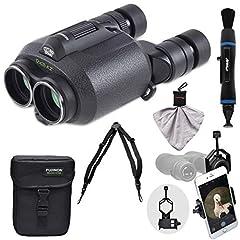 Kit includes:♦ 1) Fujifilm Fujinon Techno-Stabi TS1228 12x28 Image Stabilized Binoculars & Case♦ 2) Op/Tech USA Elastic Bino/Cam Quick Release Harness for Binoculars & Cameras♦ 3) Precision Design Universal Smartphone Adapter f...