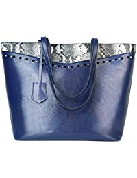 Designer Handbags Snakeskin bags for women Retro Vintage Tote Shoulder Purse leather Top Handle Satchel With Zipper