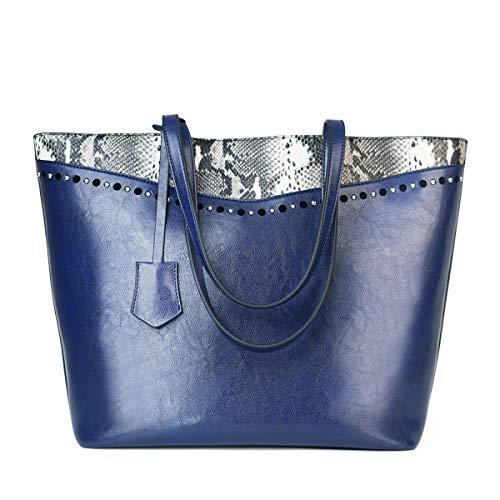 - Designer Handbags Snakeskin bags for women Retro Vintage Tote Shoulder Purse leather Top Handle Satchel With Zipper