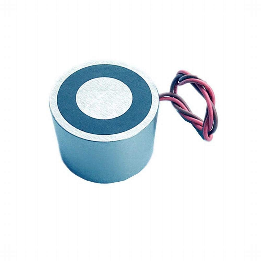 Dia 40x25mm 12V DC - Electromagnet Electric Permanent Magnet EPM Dia 40x25 mm Solenoid 12V 24V DC Input Strong Lifting Magnetic Holding Controller