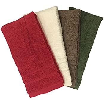 "Ruthy's Textile 4 Pack 15"" X 25"" Extra Soft Zero Twist Hand Towels - Colors May Vary"
