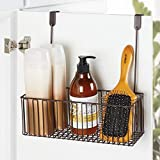 mDesign Metal Over Cabinet Bathroom Storage