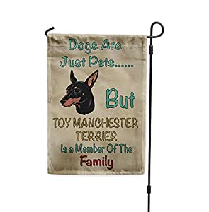 Perros Solo mascotas pero juguete Manchester Terrier perro familia Patio Casa Jardín bandera