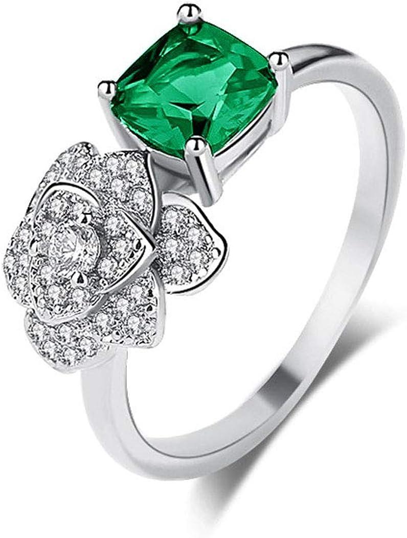 AZfasci Women Engagement Rings Bride Ring Heart Flower Crystal Zircon Dainty Charm Teen Girls Gift
