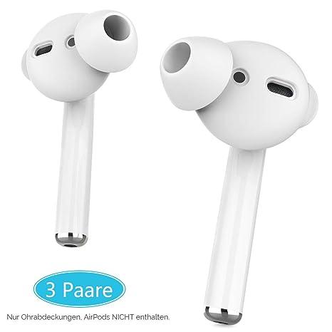 AhaStyle Silikon Ohrpolster Ohrstöpsel aus Silikon - 3 Paar Aufsatz In-Ear Gummi Ohrstöpsel Anti-Rutsch Schutz Headset mit Si