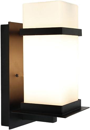 nblyl moderna lámpara de pared sencilla lámpara pared blanco cálido iluminación de pared exterior 1003-pir) E27 para dormitorio dormitorio Escalera Aisle Veranda (sin bombilla): Amazon.es: Iluminación
